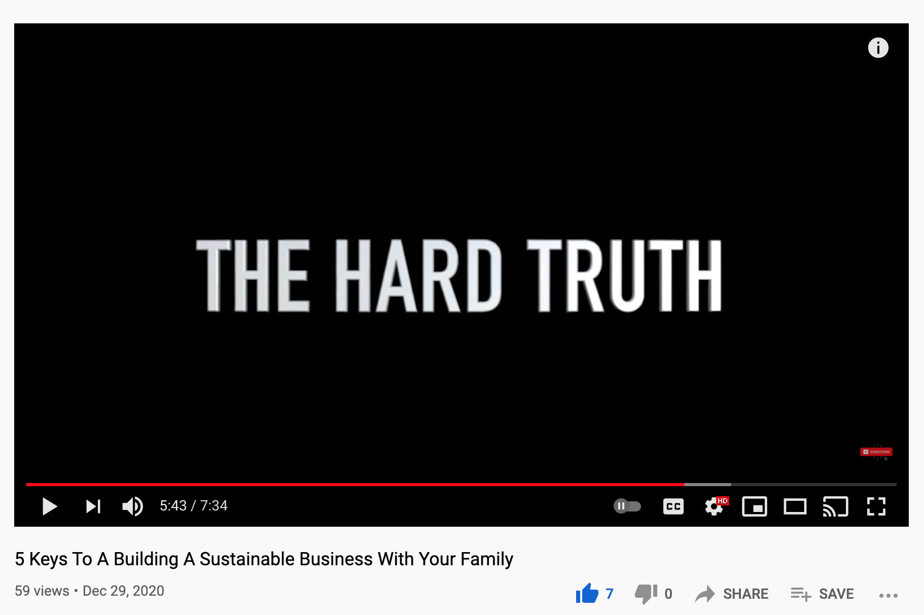 Building A Sustainable Business - The Hard Truth